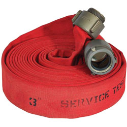 "ATI 52H25HDR100N Jafline HD Fire Hose, 2-1/2"" Dia, 100 ft, Red, NST 1 PK"