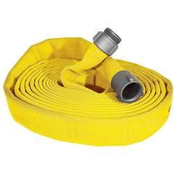 "ATI 52H25HDY100N Jafline HD Fire Hose, 2-1/2"" Dia, 100 ft, Yellow, NST 1 PK"