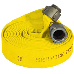 "ATI 58H3JLY100N Jaflite HD Fire Hose, 3"" Dia, 100 ft, Yellow, NST 1 PK"