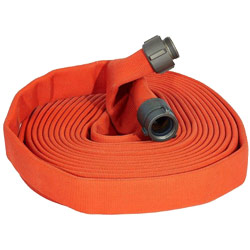 "ATI 59H175JTO25N Jaflite Fire Hose, 1-3/4"" Dia, 25 ft, Orange, NST 1 PK"