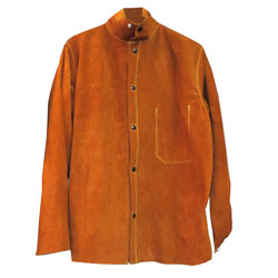 "Chicago Protective 600-CL-DOM 30"" Domestic Rust Split Leather Jacket"