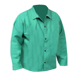 "Chicago Protective 600-GW 30"" Heavyweight Green FR Cotton Jacket"