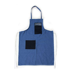 Chicago Protective 532-SW Blue Shop Denim Apron with Swinging Bib Po