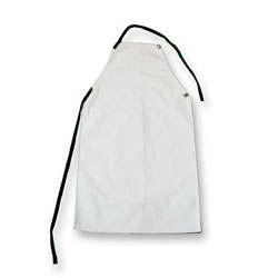 "Chicago Protective 542-FRD 42"" Natural FR Duck Bib Apron"